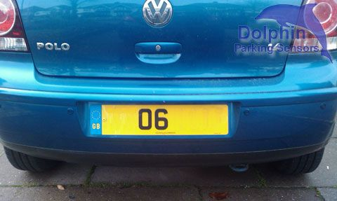 Dolphin Automotive: Dolphin DPS400 Sea Blue Fitted to a VW Polo 1.4 #parkingsensors #reversingsensors #dolphin #dps400 #vw #volkswagen #polo