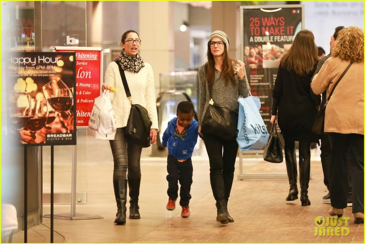 Sandra Bullock takes her son Louis to see The Lego Movie on February 9, 2014