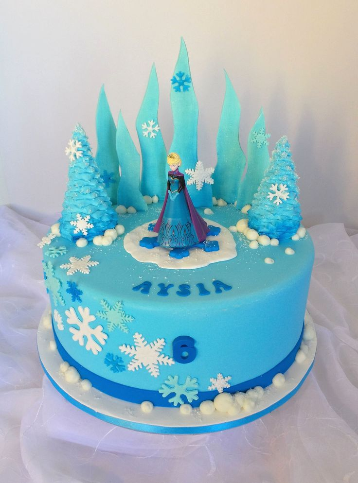 https://flic.kr/p/umXRSq Frozen themed birthday cake ...
