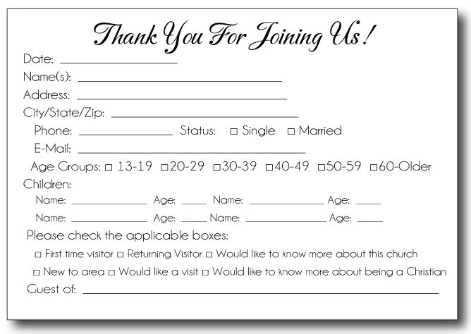 35 Awesome visitor card images Church Church outreach, Church