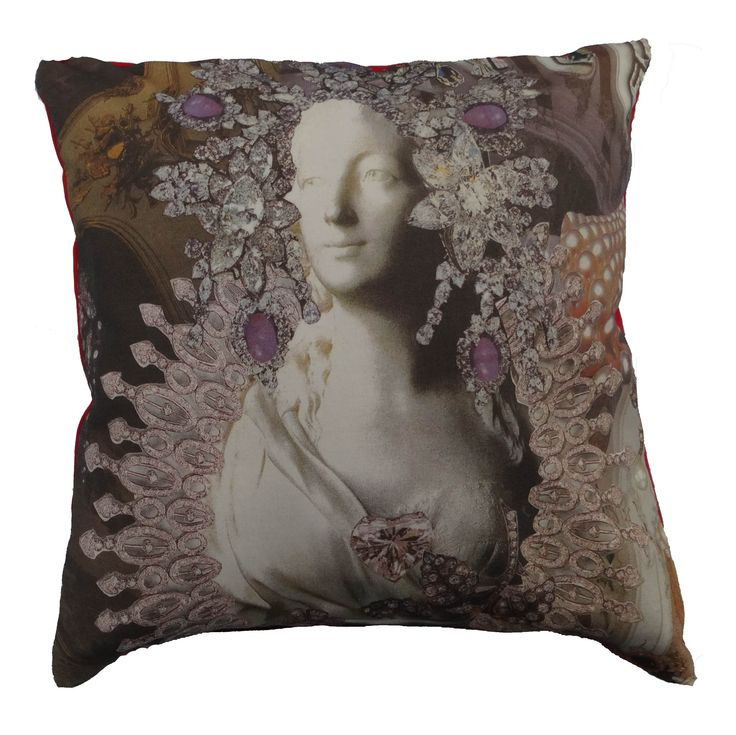 Luxury cushion that shows part of the famous story The Snow Queen by Hans Christian Andersen #snowqueen #queen #hcandersen #cushion #pillow #decor #digitalprint #cushionsale #shop #handmade #buy #art #fairytale #homedesign #print #interiordesign #luxury #story #forbed