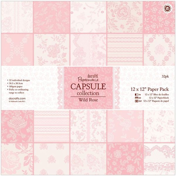 """Papermania Paper Pack 12""""X12"""" 32/Pkg-Wild Rose - Overstock™ Shopping - Big Discounts on docrafts Paper Packs"""