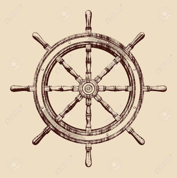 Resultado de imagen para timones de barco tatuajes