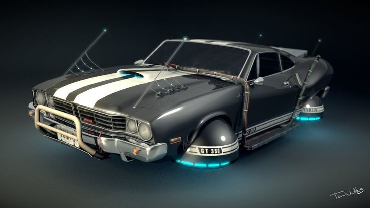 CYPULCHER, Hover Car model (Blender 3D)byTomWalks 200309 -...