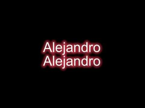 ▶ Lady Gaga - Alejandro.. I so love Lady Gaga but sometimes she frightens me, lol. I'm not a fan of the original video of this song.