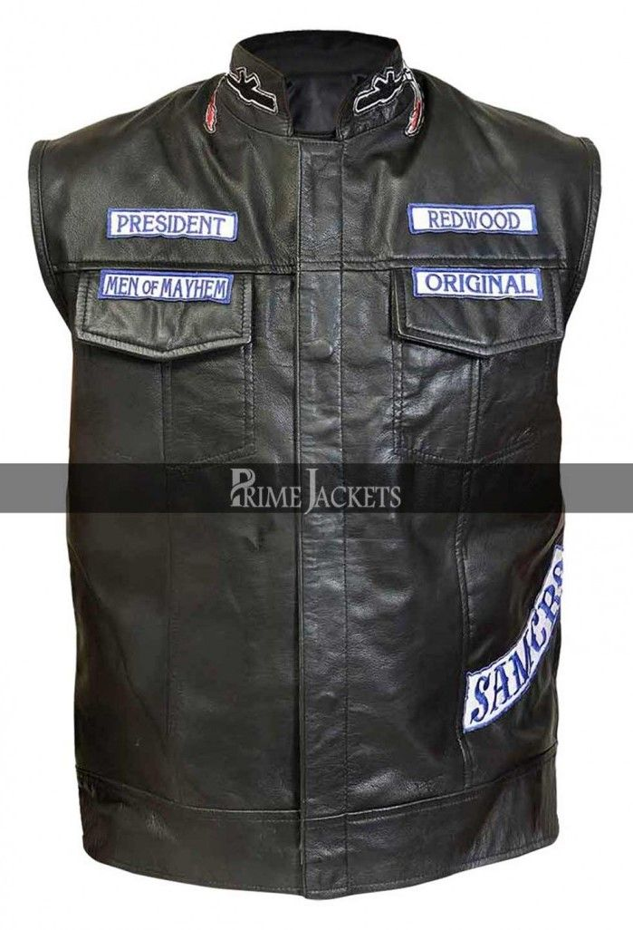 Jackson Jax Teller Sons Of Anarchy Leather Patches Vest Sons Of Anarchy Vest Sons Of Anarchy Sons Of Anarchy Reaper