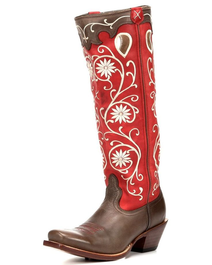 "Twisted X Boots | Women's Buckaroo PWS Toe 17"" Boot - Bomber/Red 