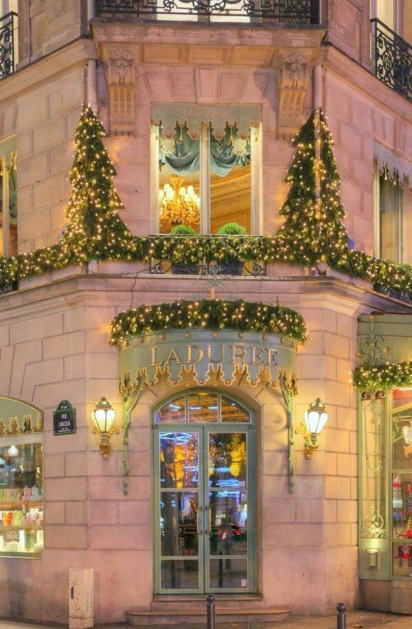 229 best images about paris shops cafes on pinterest for Laduree christmas