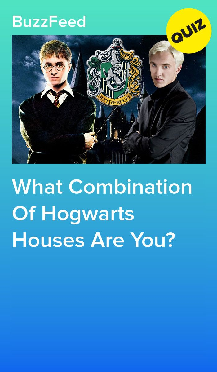 What Combination Of Hogwarts Houses Are You? | Harry Potter