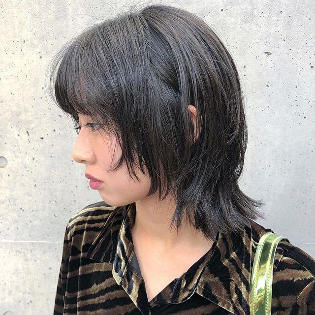 ウルフカット 髪質に合わせて毛量調整するのでしっかり収…