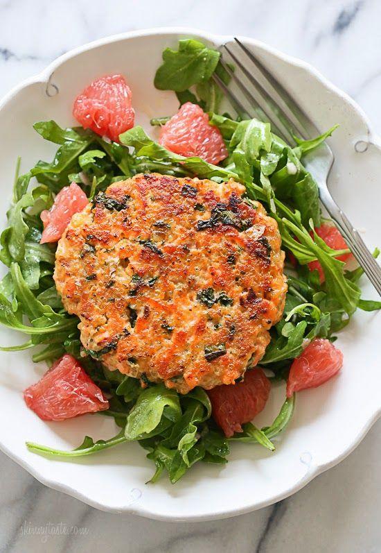 Salmon Quinoa Burgers - Delish.com