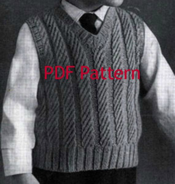 This would go so well with the little girl jumper and sweater pattern. Such a cute classic Little Boys Vest Knitting Pattern. Vintage 1950's in 3 sizes by BubbleGumInTheMail, $2.50