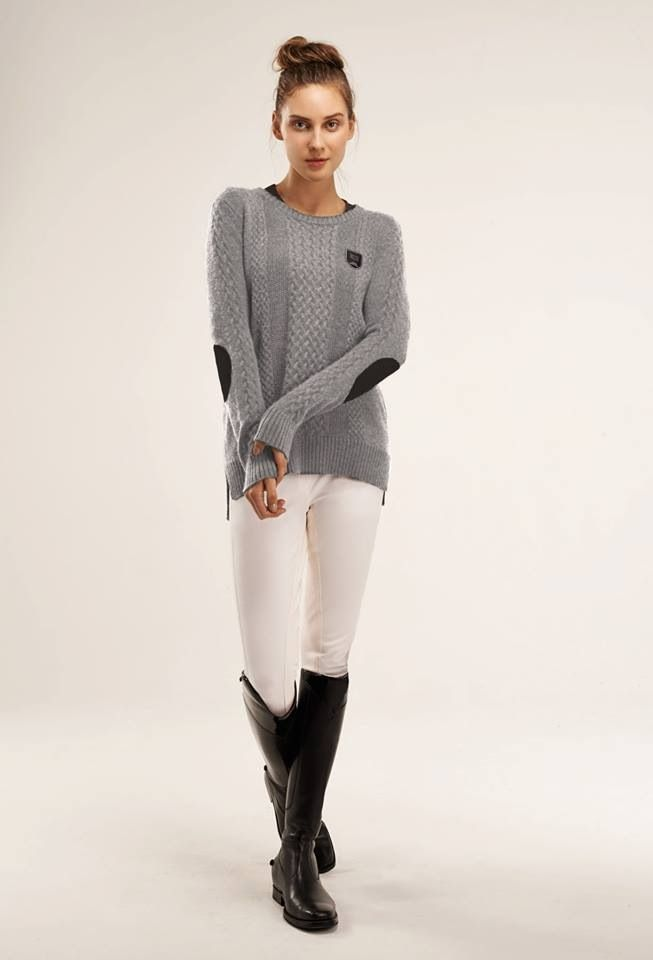Equestrian clothing line. That grey sweater looks so comfy! http://www.stylemyride.net/ Style My Ride