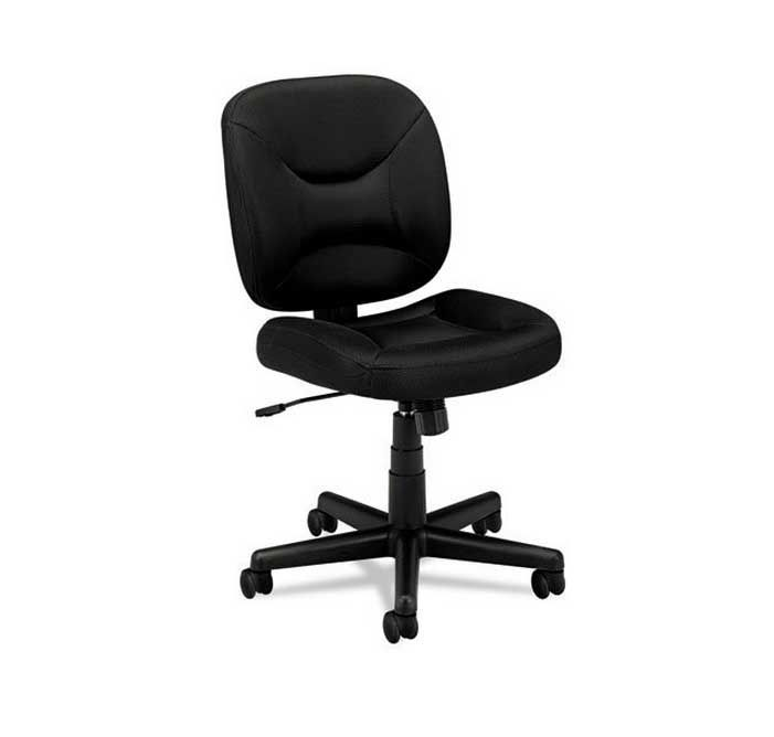 Superb Basyx By HON Task Chair For Office Or Computer Desk, Black Black Sandwich  Mesh UpholsterySturdy Textured Black FramePneumatic Seat Height