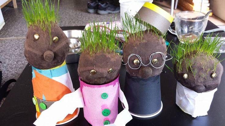 Graspoppetjes -workshop @wedderbergen- moeten binnenkort naar de kapper!