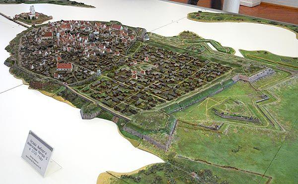 Model of medieval #Vyborg, Vyborg castle museum.