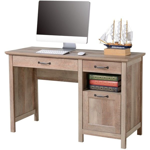 Bianca Computer Desk Reclaimed Wood Homestar Target Liked On Polyvore Featuring Home Furniture Desks Reclaimed Wood Compu Computer Desk Reclaimed Wood