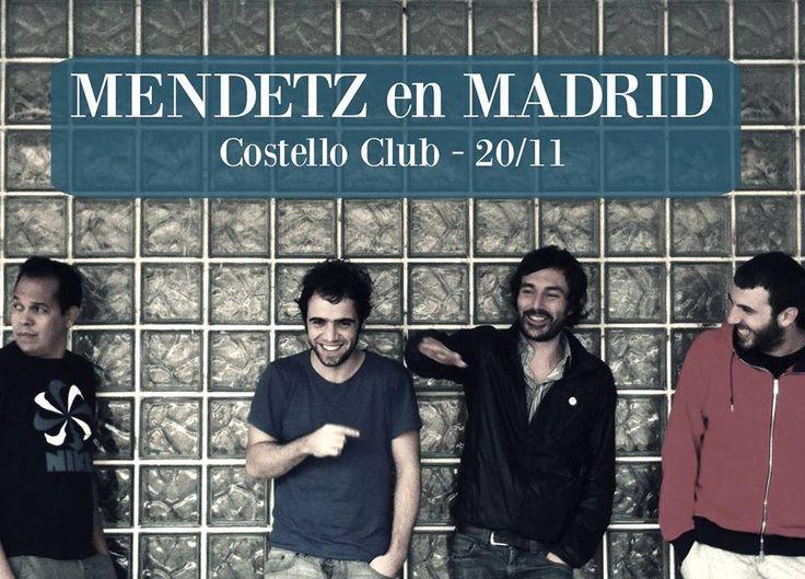 Hoy #concierto de @mendetz en #Madrid #CosteloClub #VisteMusica   http://www.latiendadelosartistas.com/es/74-fabricante-del-merchandising-oficial-de-mendetz