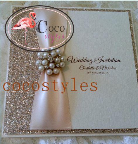 Günstige Luxus Glitter Hochzeitseinladungskarte Mit Brosche, Kaufe Qualität  Einladungskarten Direkt Vom China Lieferanten: