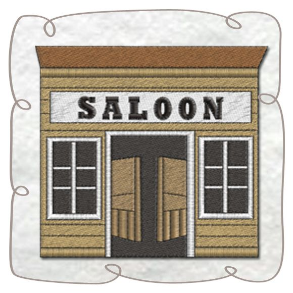 Saloon machine Embroidery Design Pattern-INSTANT DOWNLOAD