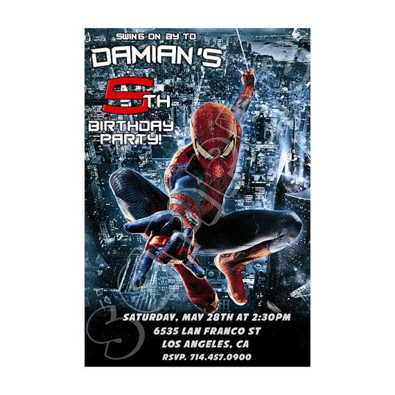 Spiderman Birthday Invitation Amazing Spiderman Party Printables