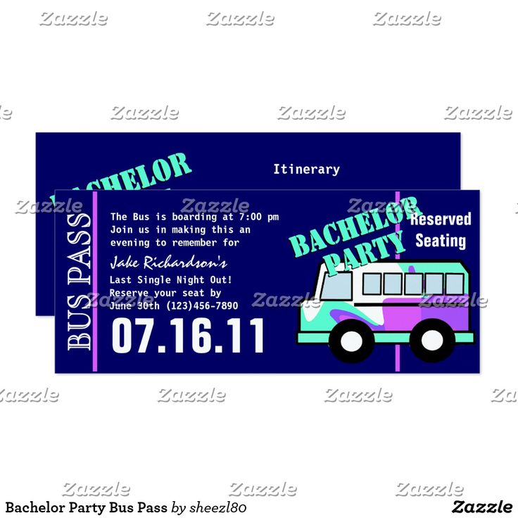 26 best bachelor party invites images on pinterest invites bachelor party bus pass card stopboris Image collections