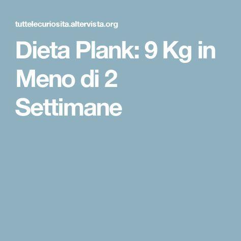 Dieta Plank: 9 Kg in Meno di 2 Settimane
