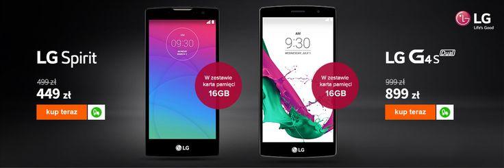Promocyjne smartfony LG