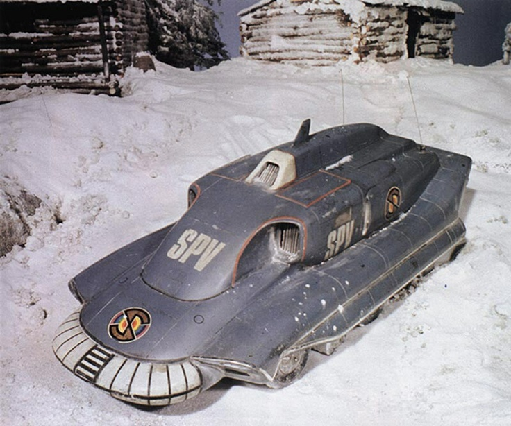 Spectrum Pursuit Vehicle -- good in the snow with its God-only-knows-how-many-wheel drive.