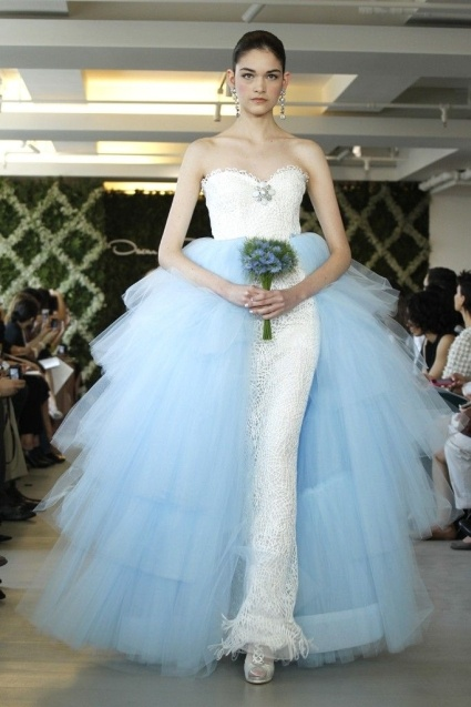 The 39 best Blue Wedding Dresses images on Pinterest | Short wedding ...