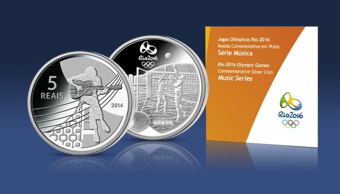 Oficjalna srebrna moneta olimpijska Rio 2016 - muzyka
