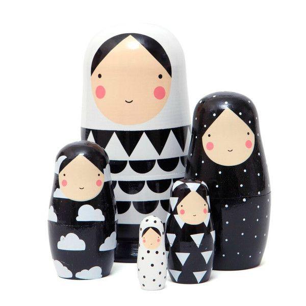 Puppen - Matroschka Black & White - ein Designerstück von designupdate bei DaWanda