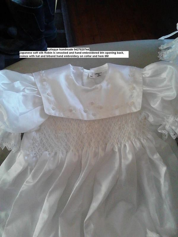 Japanese soft silk heirloom white gown with hat and bib 0427820744