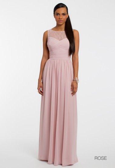 GROUP USA  Lace Illusion Neckline Dress