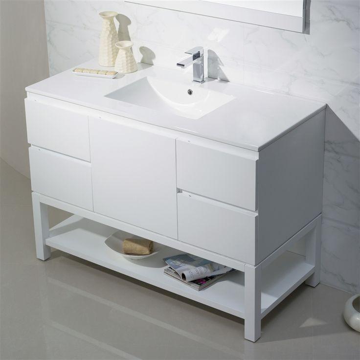 Pic On Modern Bathroom Vanity Emmet with Porcelain Top