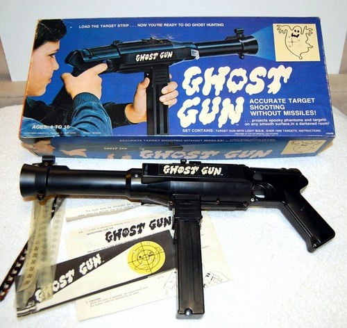 1974 Hasbro Ghost Gun With Targets Instructions And Box