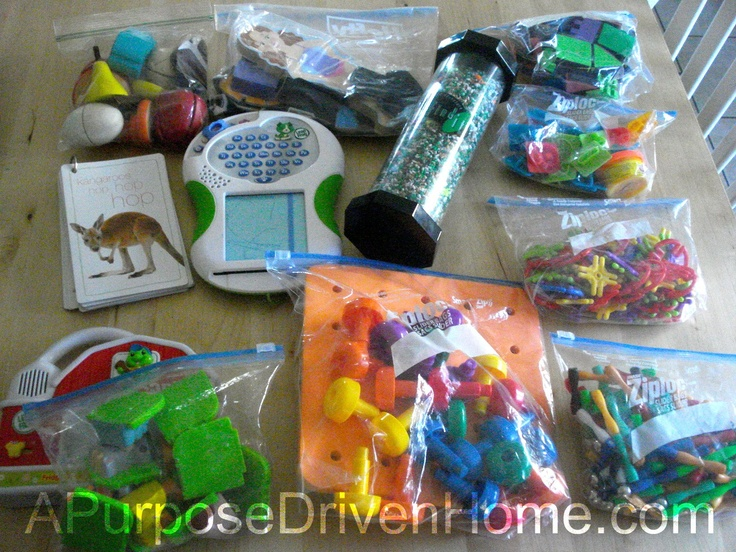 Traveling With Toddlers {The Activity Bag} | A Purpose Driven Home