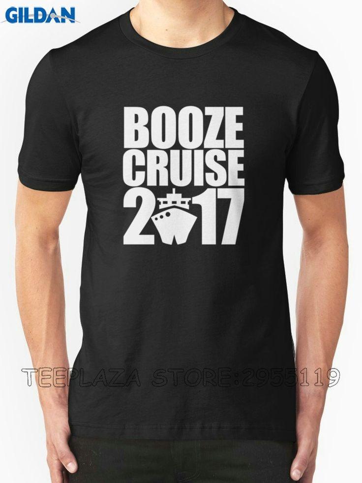 Teeplaza Personalised T Shirts O-Neck Short Booze Cruise 2017 Design T Shirts For Men