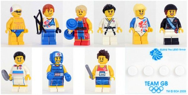 8909 Team GB LEGO Minifigures