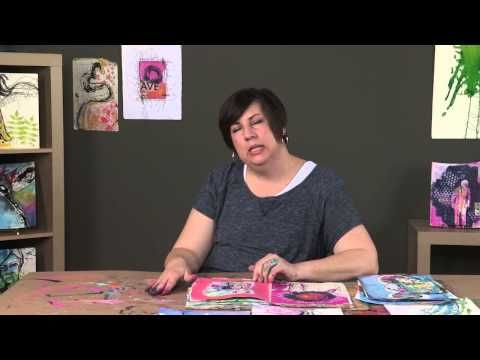 ▶ #Papercrafting #MixedMedia: Dina Wakley Talks About Art and Art Journaling - YouTube