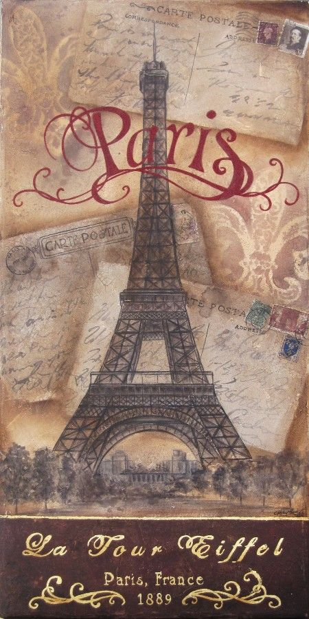 Vintage: Reizen-Stad-Land *Travel ~Paris; la Tour Eiffel~