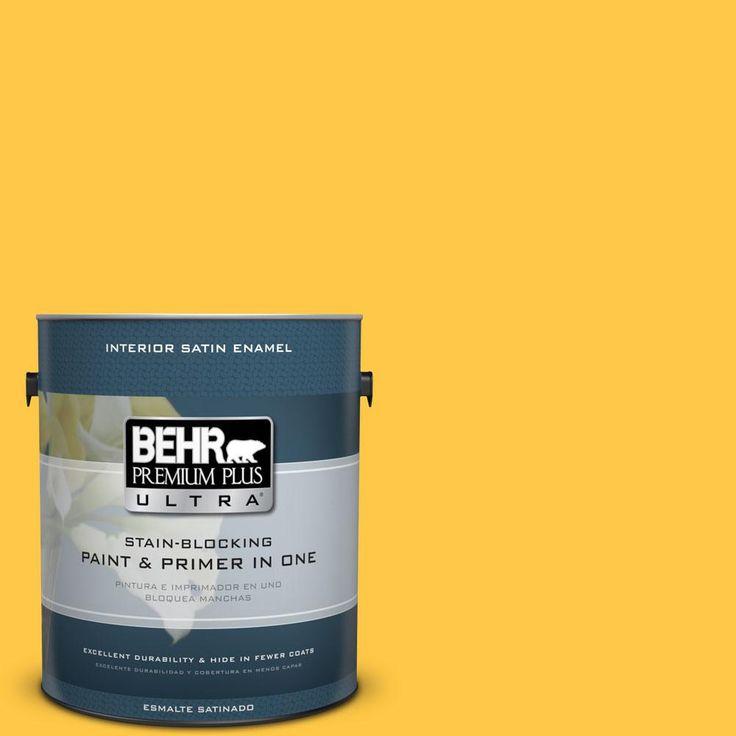BEHR Premium Plus Ultra 1-gal. #P290-6 English Daisy Satin Enamel Interior Paint