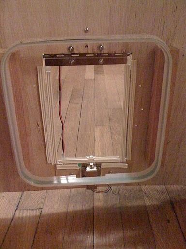 This is a cat door/flap that can only be opened by the animal that wears the appropriate RFID tag. Arduino controls the process. It features a custom made antenna large enough to function as a gate, which makes it easy for the animal to activate and quite