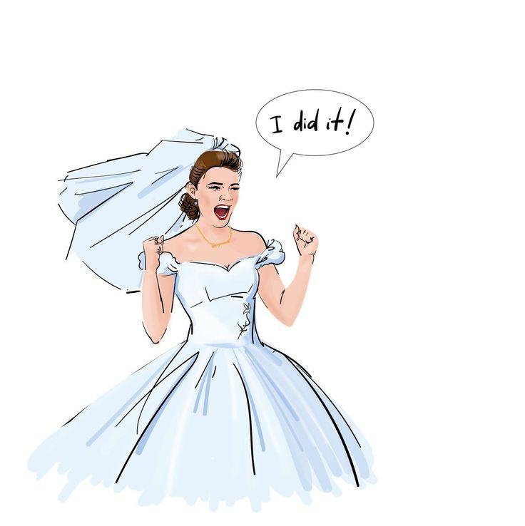 """Свадьба - один из самых счастливых моментов в жизни женщины 👰🏼. Вернуть себе это ощущение можно, ставя сложные задачи и добиваясь высоких целей. Каждый раз, преодолевая трудности, справившись, говорите себе """"I did it!"""" ✌И ощущение подвенечного платья вернётся в мгновение ока)) Девочки, мы такие сильные, такие красивые! Нам все по плечу!   P.S.: Нашей невесте на шею мы повесили золотой кулон Pop Me Art))"""