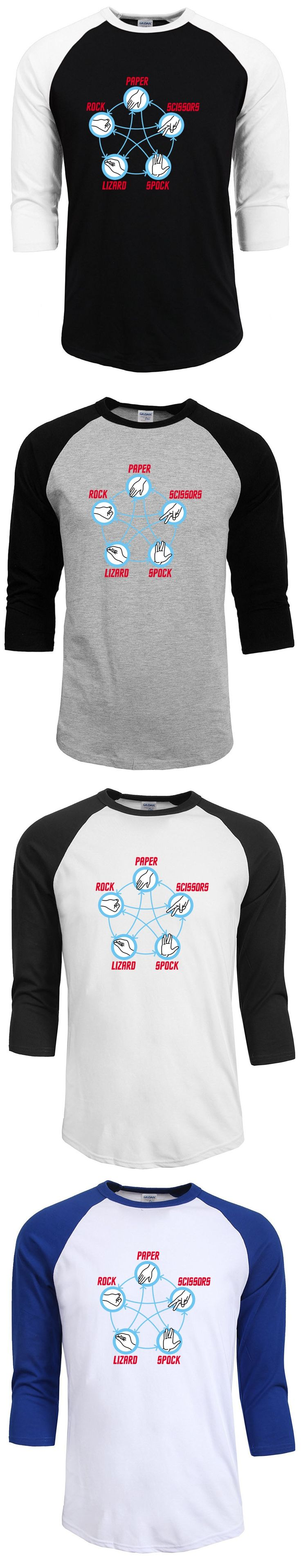 2017 new fashion star Trek Rock Paper Scissors Lizard Spock funny print T-Shirt men t shirts male top streetwear tops clothing