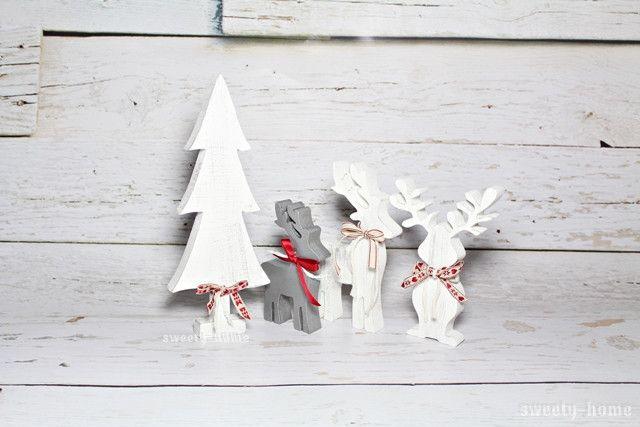 Ozdoba świąteczna CHOINKA Boże Narodzenie 30cm - sweety-home - Dekoracje: drewno