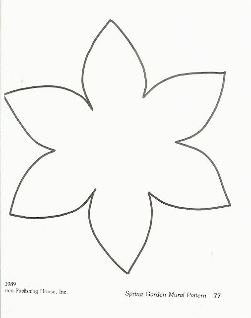 Flower template and so many ideas for flower art projects for babies on up.