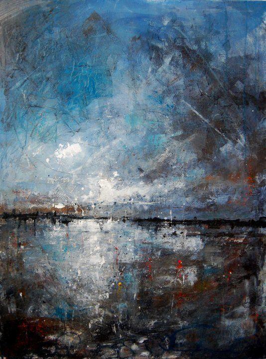 "Anthony Garratt; Acrylic, Painting ""red buoy"""