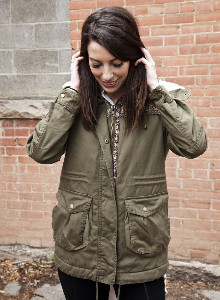 Dylan by True Grit Olive Military Sequin Jacket