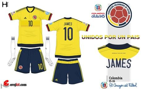 Colombia home kit for the 2015 Copa America.
